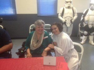 Princess Leia was so sweet!