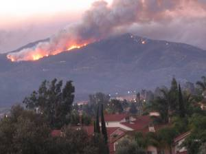 October 2007 – watching the fire approach our neighborhood