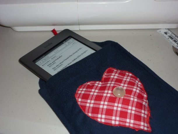 A Kindle cozy, my very last sewing project